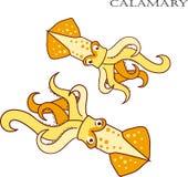 Ejemplo de la historieta del color de Calamary Fotos de archivo libres de regalías