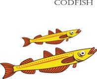 Ejemplo de la historieta del color de los bacalaos Imagen de archivo libre de regalías