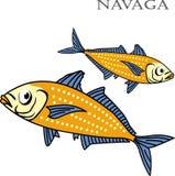 Ejemplo de la historieta del color de los pescados de Nagava Foto de archivo libre de regalías