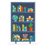 Ejemplo de la historieta del estante para libros Stock de ilustración
