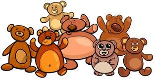 Ejemplo de la historieta del grupo de los osos de peluche libre illustration