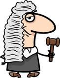 Ejemplo de la historieta del juez Imágenes de archivo libres de regalías