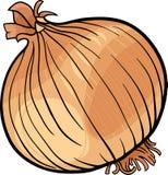 Ejemplo vegetal de la historieta de la cebolla Imágenes de archivo libres de regalías