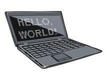 Ejemplo de la historieta del ordenador portátil Fotografía de archivo