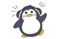 Ejemplo de la historieta del pingüino lindo ilustración del vector