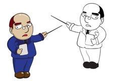 Ejemplo de la historieta del profesor del carácter libre illustration