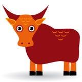 Ejemplo de la historieta del toro asiático de los yacs Vector Foto de archivo