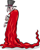 Ejemplo de la historieta del vampiro de Halloween Foto de archivo libre de regalías