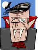 Ejemplo de la historieta del vampiro de Halloween Imagenes de archivo