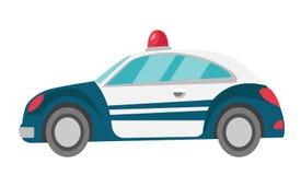 Ejemplo de la historieta del vector del coche policía ilustración del vector
