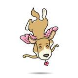 Ejemplo de la historieta del vector del cupido del perro Fotos de archivo