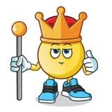 Ejemplo de la historieta del vector de la mascota del rey del Emoticon libre illustration
