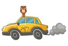 Ejemplo de la historieta del vector del Taxi Driver ilustración del vector