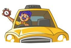Ejemplo de la historieta del vector del Taxi Driver stock de ilustración