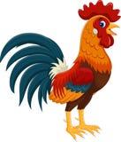 Ejemplo de la historieta feliz del gallo ilustración del vector