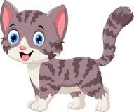 Ejemplo de la historieta gris linda del gato Imágenes de archivo libres de regalías