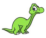Ejemplo de la historieta de la maravilla del Diplodocus del dinosaurio ilustración del vector