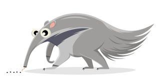 Ejemplo de la historieta de un hormiga-comedor stock de ilustración