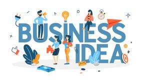 Ejemplo de la idea del negocio Intercambio de ideas en un trabajo en equipo stock de ilustración