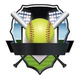 Ejemplo de la insignia del emblema del softball libre illustration