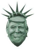 Ejemplo de la libertad y de Donald Trump stock de ilustración