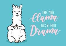 Ejemplo de la llama de la yoga con el inscriprion vidas w de esta llama de la yoga libre illustration