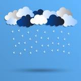 Ejemplo de la lluvia Fotografía de archivo