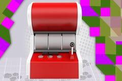 ejemplo de la máquina tragaperras 3d Imagen de archivo libre de regalías