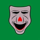 Ejemplo de la máscara blanca del teatro Imagen de archivo