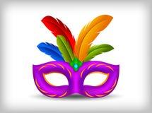 Ejemplo de la máscara del carnaval stock de ilustración