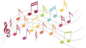 Ejemplo de la música Imágenes de archivo libres de regalías