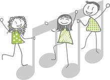 Ejemplo de la música Imagen de archivo libre de regalías