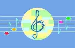Ejemplo de la música del vector para los niños fotos de archivo