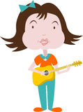 Ejemplo de la música para el niño Fotos de archivo