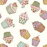 Ejemplo de la magdalena Sistema de los pasteles libre illustration