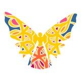 Ejemplo de la mariposa de la mujer stock de ilustración