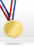 Ejemplo de la medalla de oro Imagen de archivo libre de regalías