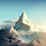 Ejemplo de la montaña stock de ilustración