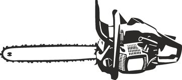 Ejemplo de la motosierra aislado libre illustration