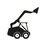 Ejemplo de la muestra del tractor Vector Icono negro en el fondo blanco Fotos de archivo