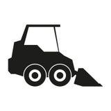 Ejemplo de la muestra del tractor Vector Icono negro en el fondo blanco Fotografía de archivo libre de regalías
