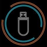 Ejemplo de la muestra de Pendrive, icono del usb ilustración del vector