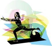 Ejemplo de la mujer de la yoga ilustración del vector