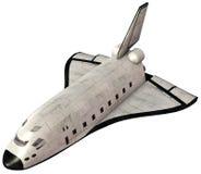 Ejemplo de la nave espacial del transbordador espacial aislado Imagen de archivo