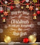 Ejemplo de la Navidad Foto de archivo libre de regalías