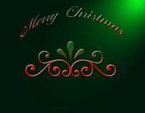 Ejemplo de la Navidad Foto de archivo