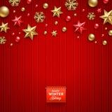Ejemplo de la Navidad Imágenes de archivo libres de regalías