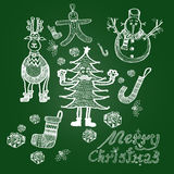 Ejemplo de la Navidad Fotos de archivo