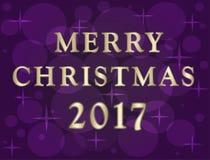 Ejemplo de la Navidad con efecto del bokeh Foto de archivo libre de regalías