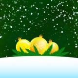 Ejemplo de la Navidad de tres bolas Imágenes de archivo libres de regalías